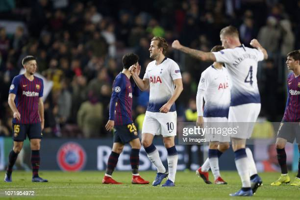 Arthur Henrique Ramos de Oliveira Melo of FC Barcelona Carles Alena of FC Barcelona Mousa Dembele of Tottenham Hotspur FC Toby Alderweireld of...