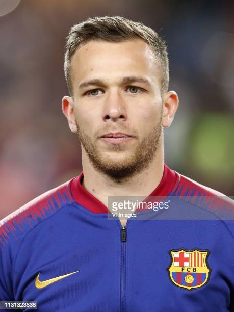 Arthur Henrique Ramos de Oliveira Melo of FC Barcelona during the UEFA Champions League round of 16 match between FC Barcelona and Olympique Lyonnais...