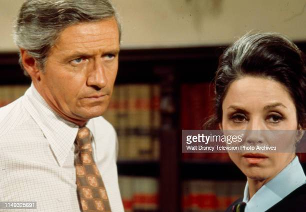 Arthur Hill, Diana Hyland appearing in the ABC tv series 'Owen Marshall, Counselor at Law' episode 'Final Semester'.