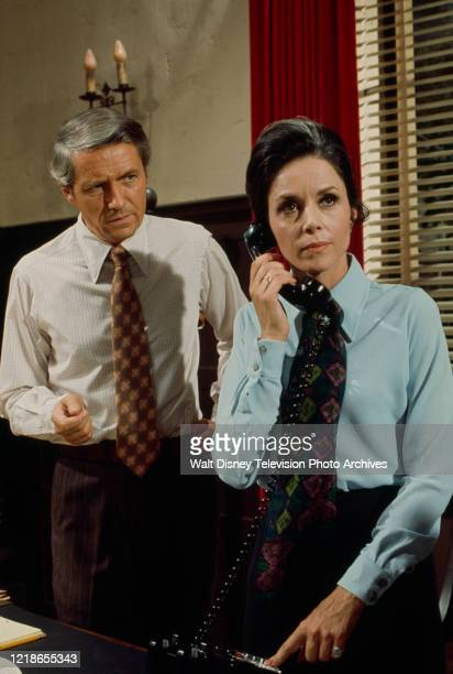 Arthur Hill, Diana Hyland appearing in the ABC tv series 'Owen Marshall, Counselor at Law'.