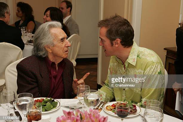 "Arthur Hiller and Director Jean-Marc Vallee during ""C.R.A.Z.Y."" Luncheon Hosted by the Los Angeles Consul General of Canada at Consul General of..."