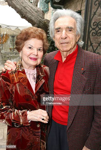 Arthur Hiller and wife Gwen Hiller during The Canadian Consulate Honors the 79th Annual Academy Award Nominees at Canadian Residence in Hancock Park,...