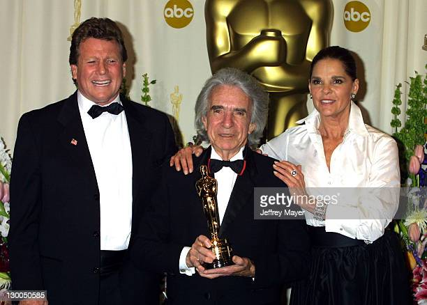 Arthur Hiller, Honorary Academy Award winner , with presenters Ryan O'Neal and Ali MacGraw
