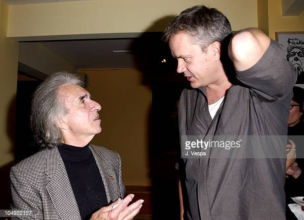 Arthur Hiller Tim Robbins during Opening Night of Klaus Mann's Mephisto a play directed by Tim Robbins at Actors' Gang Theater in Los Angeles...