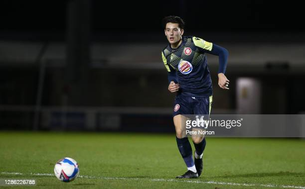 Arthur Iontton of Stevenage in action during the Papa John's Trophy match between Northampton Town and Stevenage at PTS Academy Stadium on November...