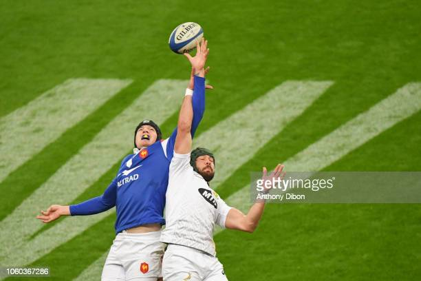 Arthur Itturia of France during the Test match between France and South Africa on November 10 2018 in Paris France