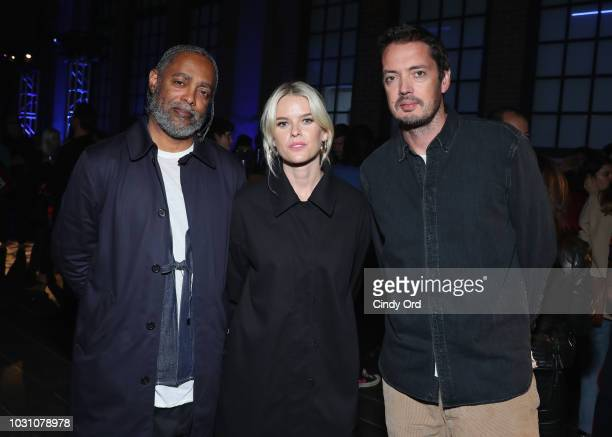 Arthur Jafa Alice Eve and Marcus Wainwright attend the screening of the rag bone film Time Of Day at The High Line on September 10 2018 in New York...