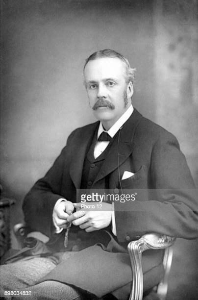 Arthur James Balfour lst Earl Balfour Scottishborn British statesman and philosopher Prime Minister 19025 Balfour Declaration 1917 From a photograph...