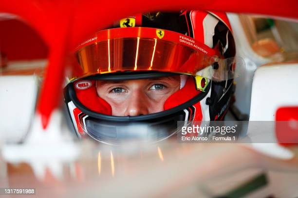 Arthur Leclerc of Monaco and Prema Racing at Circuito de Jerez on May 12, 2021 in Jerez de la Frontera, Spain.