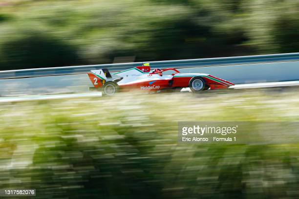 Arthur Leclerc of Monaco and Prema Racing drives at Circuito de Jerez on May 12, 2021 in Jerez de la Frontera, Spain.