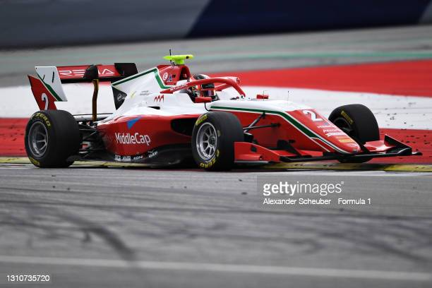 Arthur Leclerc of Monaco and Prema Racing drives during Day Two of Formula 3 Testing at Red Bull Ring on April 04, 2021 in Spielberg, Austria.