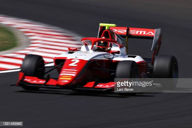 Arthur Leclerc of Monaco and Prema Racing drives during qualifying ahead of Round 4:Budapest of the Formula 3 Championship at Hungaroring on July 30,...