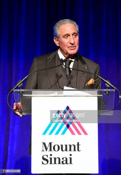 Arthur M Blank speaks onstage during 2019 Mount Sinai Prostate Cancer Research Gala at Cipriani 42nd Street on November 06 2019 in New York City