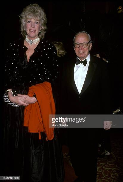 Arthur M Schlesinger Jr and wife Alexandra during 90th Birthday Party For Brooke Astor at 7th Regiment Armory in New York City New York United States