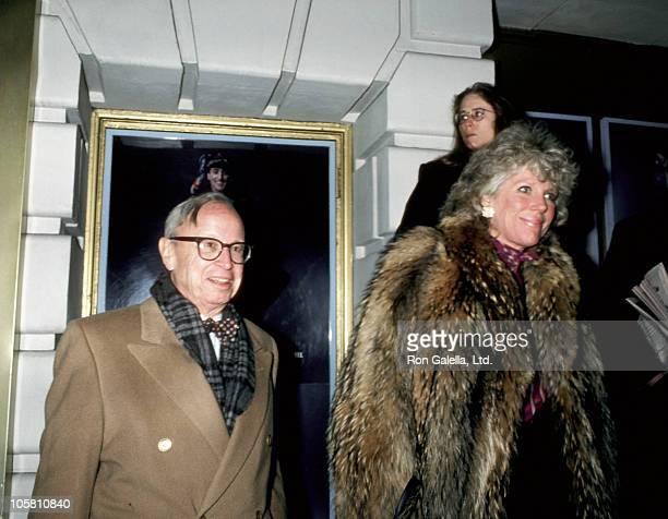 Arthur M Schlesinger Jr and wife Alexandra during Arthur Schlesinger and wife on Broadway in New York City at Braodway in New York City New York...