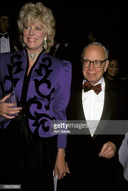 Arthur M Schlesinger Jr and wife Alexandra during Commitee to Protect Journalists Press Freedom Awards Dinner at Pierre Hotel in New York City New...