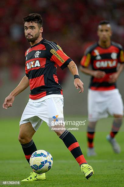Arthur Maia of Flamengo in action during the match between Flamengo and Gremio as part of Brasileirao Series A 2015 at Maracana stadium on July 18...