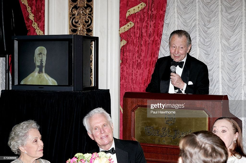 Arthur Manson, Chair of hte New York Events committee for the Academy Awards speaks at the start of dinner during the Academy of Motion Picture Arts & Sciences New York Oscar Night Celebration at The St. Regis Hotel March 5, 2006 in New York City.