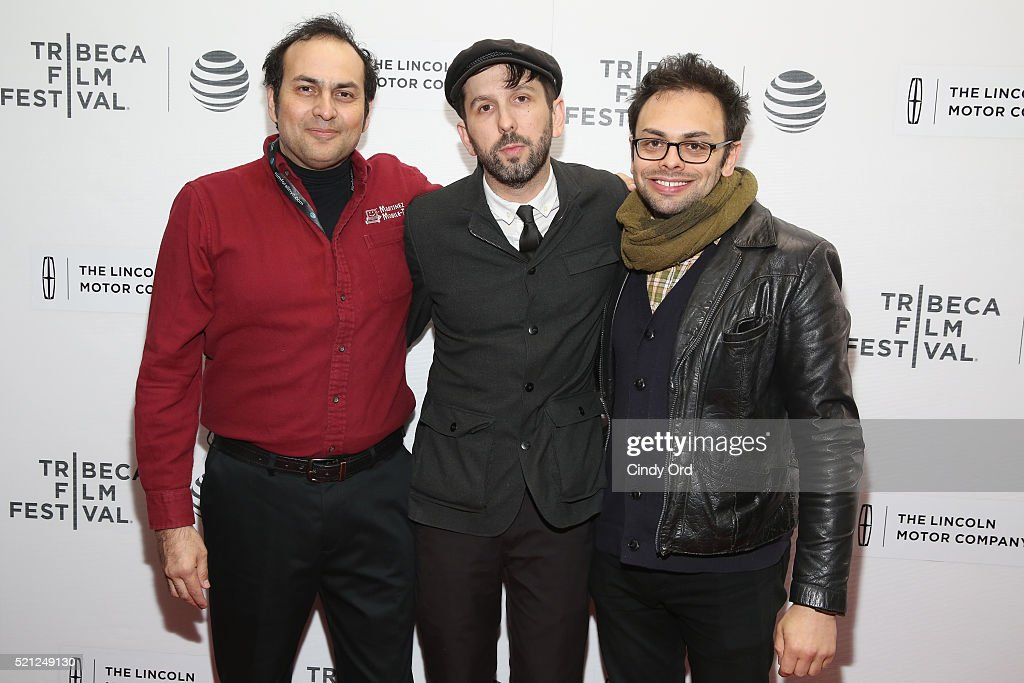 Arthur Martinez and directors Mike Ott and Nathan Silver attend the 'Actor Martinez' Premiere during the 2016 Tribeca Film Festival at Regal Battery Park Cinemas on April 14, 2016 in New York City.