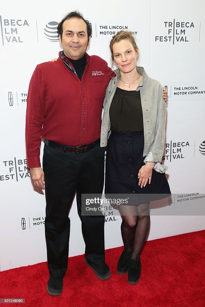 Arthur Martinez and Lindsay Burdge attend the 'Actor Martinez' Premiere during the 2016 Tribeca Film Festival at Regal Battery Park Cinemas on April 14, 2016 in New York City.