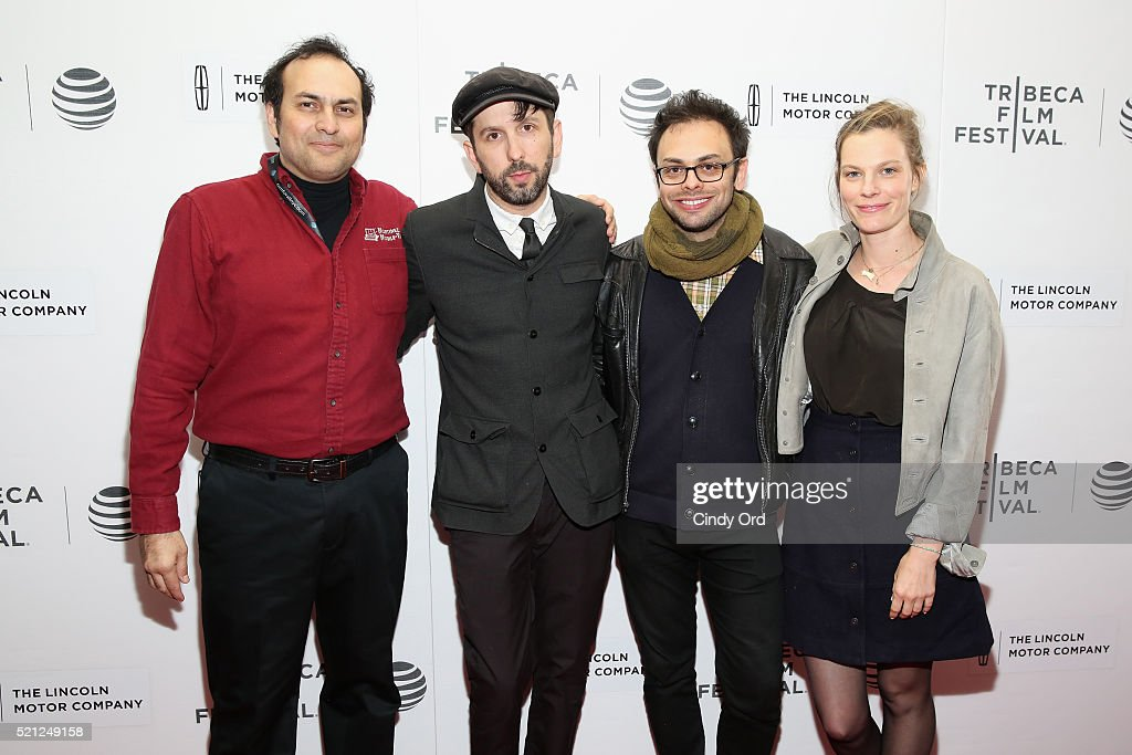 Arthur Martinez, directors Mike Ott and Nathan Silver and Lindsay Burdge attend the 'Actor Martinez' Premiere during the 2016 Tribeca Film Festival at Regal Battery Park Cinemas on April 14, 2016 in New York City.