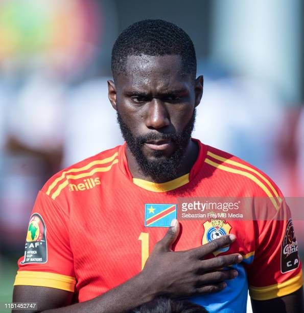 Arthur Masuaku of DR Congo looks on during the 2019 Africa Cup of Nations Group A match between DR Congo and Uganda at Cairo International Stadium on...