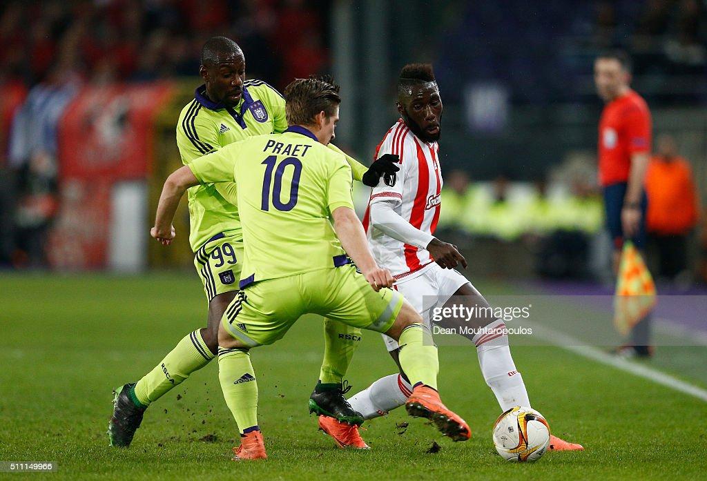Anderlecht v Olympiakos FC - UEFA Europa League Round of 32: First Leg