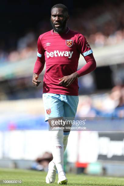 Arthur Masuaku of West Ham during the Pre-Season Friendly match between Ipswich Town and West Ham United at Portman Road on July 28, 2018 in Ipswich,...