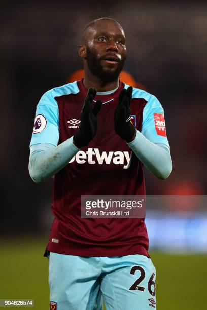 Arthur Masuaku of West Ham United applauds the crowd after the Premier League match between Huddersfield Town and West Ham United at John Smith's...