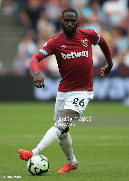Arthur Masuaku of West Ham United during the Premier League match between West Ham United and AFC Bournemouth at London Stadium on August 18 2018 in...