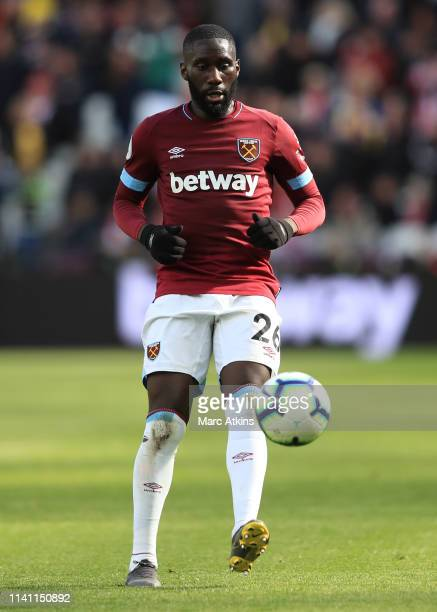 Arthur Masuaku of West Ham United during the Premier League match between West Ham United and Southampton FC at London Stadium on May 4 2019 in...