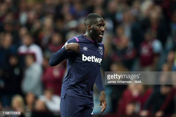 Arthur Masuaku of West Ham United during the Premier League match between Aston Villa and West Ham United at Villa Park on September 16, 2019 in...