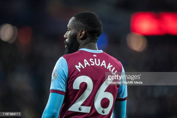 Arthur Masuaku of West Ham United during the Premier League match between West Ham United and Liverpool FC at London Stadium on January 29, 2020 in...