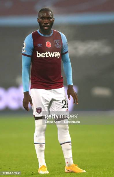 Arthur Masuaku of West Ham United during the Premier League match between West Ham United and Fulham at London Stadium on November 07, 2020 in...