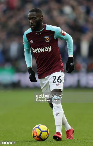 Arthur Masuaku of West Ham United in action during the Premier League match between West Ham United and Chelsea at London Stadium on December 9 2017...
