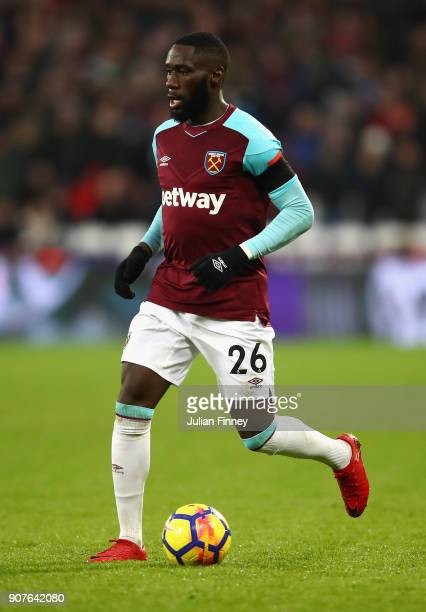 Arthur Masuaku of West Ham United in action during the Premier League match between West Ham United and AFC Bournemouth at London Stadium on January...