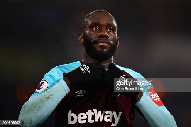 Arthur Masuaku of West Ham United looks on during the Premier League match between Huddersfield Town and West Ham United at John Smith's Stadium on...