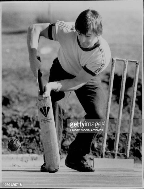 Arthur McConnell Partically Blind goes to hit the ballBlind and Partially Blind people playing cricket outside the Sydney Sports Center The ball they...