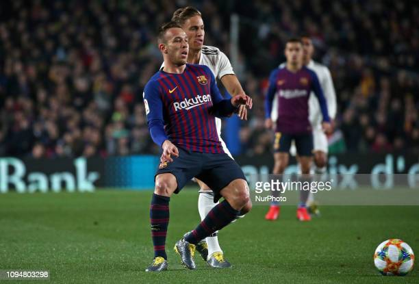 Arthur Melo and Llorente during the match between FC Barcelona and Real Madrid corresponding to the first leg of the 1/2 final of the spanish cup...