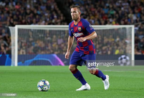 Arthur Melo during the match between FC Barcelona between Inter corresponding to the week 2 of the group stage of the Uefa Champions League played at...