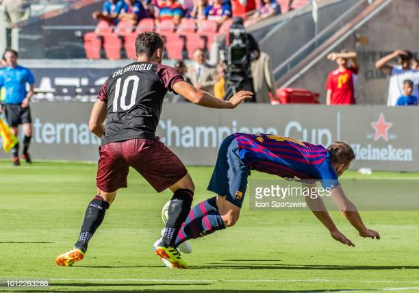 Arthur Melo Midfielder, FC Barcelona meets up with the turf during the International Champions Cup match between AC Milan and FC Barcelona on...