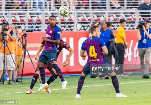 Arthur Melo Midfielder, FC Barcelona misses a pass during the International Champions Cup match between AC Milan and FC Barcelona on Saturday, August...