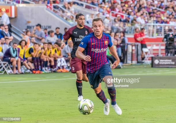 Arthur Melo Midfielder, FC Barcelona moves the ball downfield during the International Champions Cup match between AC Milan and FC Barcelona on...