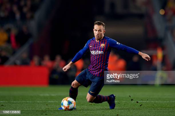 Arthur Melo of Barcelona during the Spanish Cup first leg semifinal match between FC Barcelona and Real Madrid at Camp Nou stadium on February 6 2019...