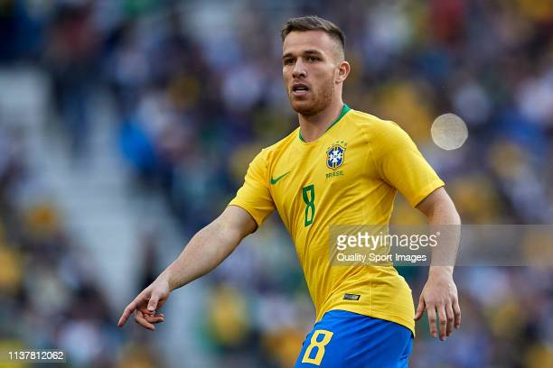 Arthur Melo of Brazil reacts during the International Friendly match between Brazil and Panama at Estadio do Dragao on March 23 2019 in Porto Portugal