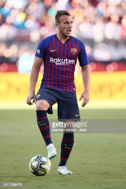Arthur Melo of FC Barcelona during the International Champions Cup 2018 match between AC Milan and FC Barcelona at Levi's Stadium on August 4 2018 in...