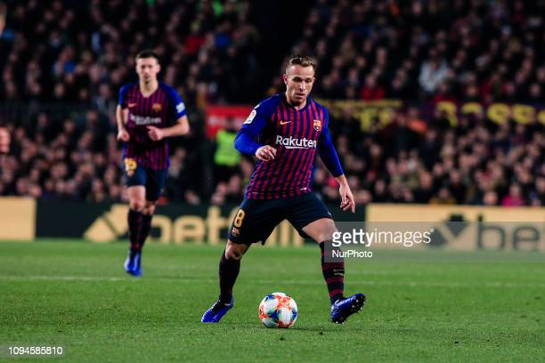 Arthur Melo of FC Barcelona during the semi-final first leg of Spanish King Cup / Copa del Rey football match between FC Barcelona and Real Madrid on...