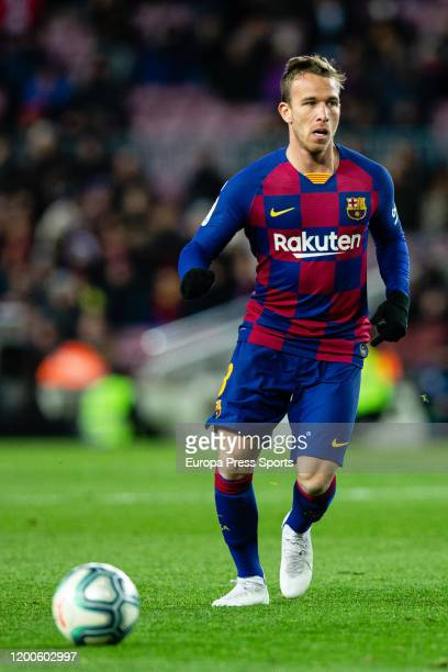 Arthur Melo of FC Barcelona in action during the Spanish League, La Liga, football match played between FC Barcelona and Granada CF at Camp Nou...