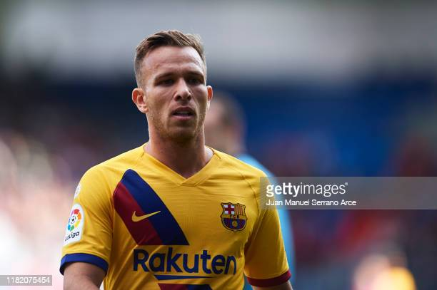 Arthur Melo of FC Barcelona looks on during the Liga match between SD Eibar SAD and FC Barcelona at Ipurua Municipal Stadium on October 19 2019 in...