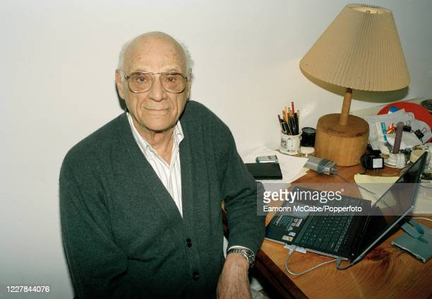 Arthur Miller , American playwright, circa July 2003. Miller was one of the best-known playwrights of the 20th century. Some of his notable works...